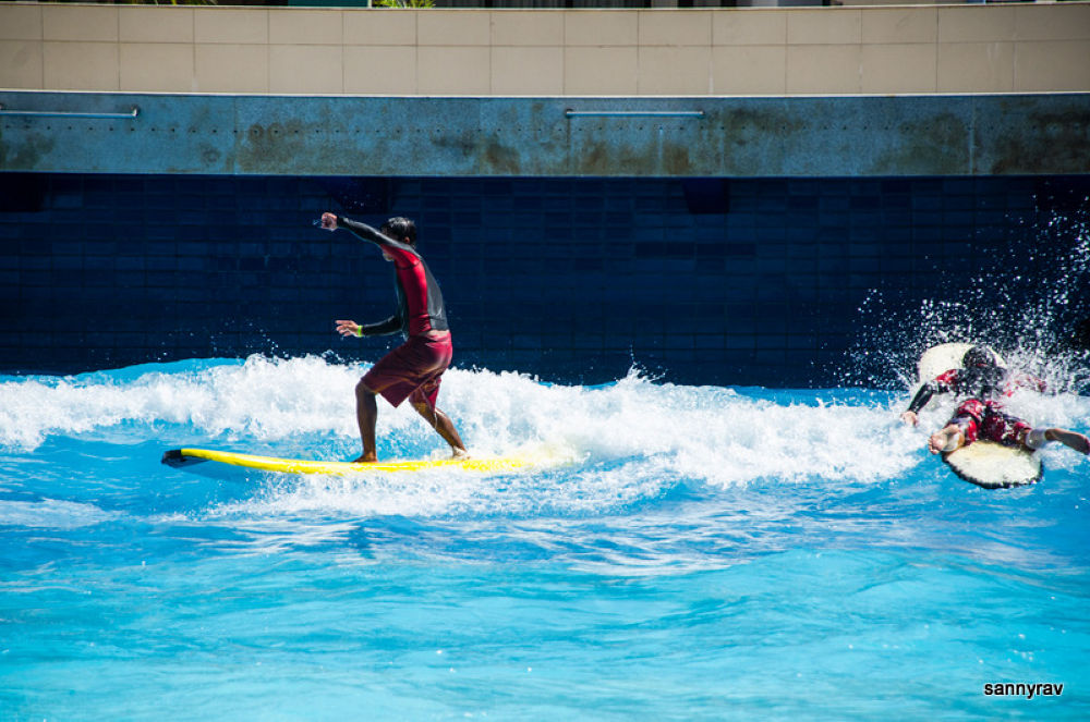 Photo in Sports #artificial waves #pool #blue