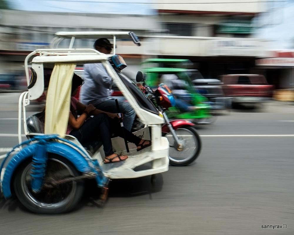 Photo in Vehicle #tricycle #movement #street