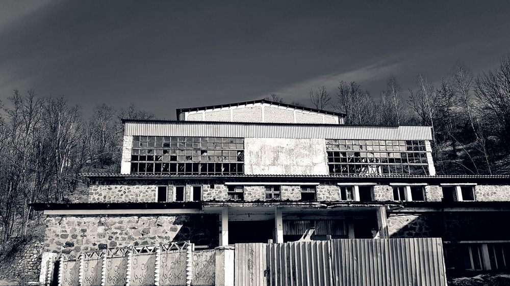 Photo in Street Photography #abandoned #factory #travel #landscape #black and white #window #windows #crack #past #roof #forghet #lost #lost in time #journalism #fence #metal tile #old school fences #decoratioans #industrial #product #rural #vintage