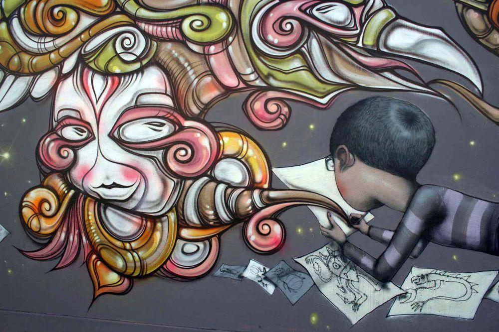 Photo in Street Photography #phibs #seth #street art