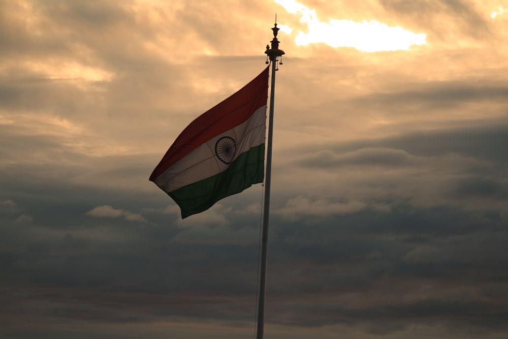 Photo in Random #indian flag #sunset #sky