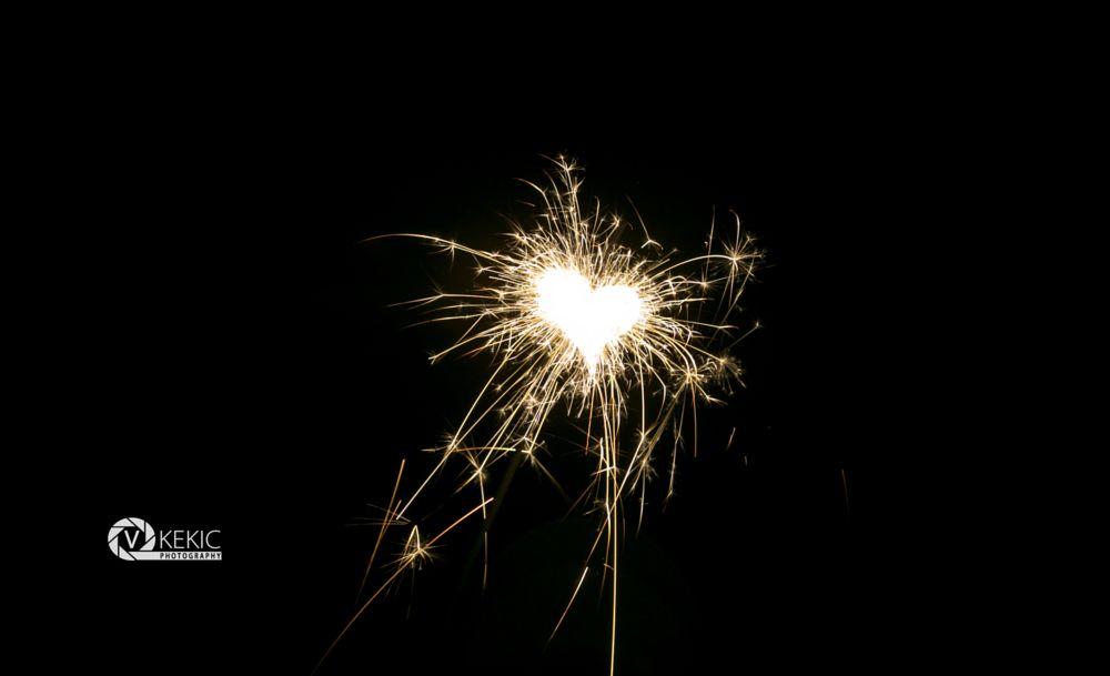 Photo in Fine Art #newyear #firework #heart #lights #canon
