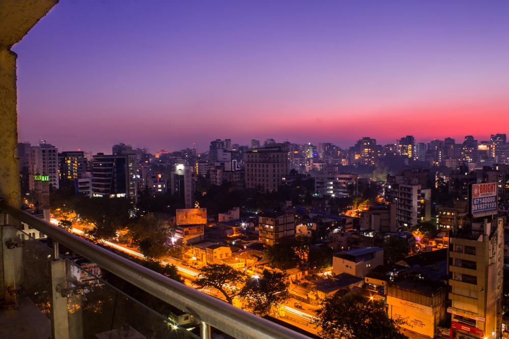 Photo in Cityscape #cityscape #evening #twilight #balcony