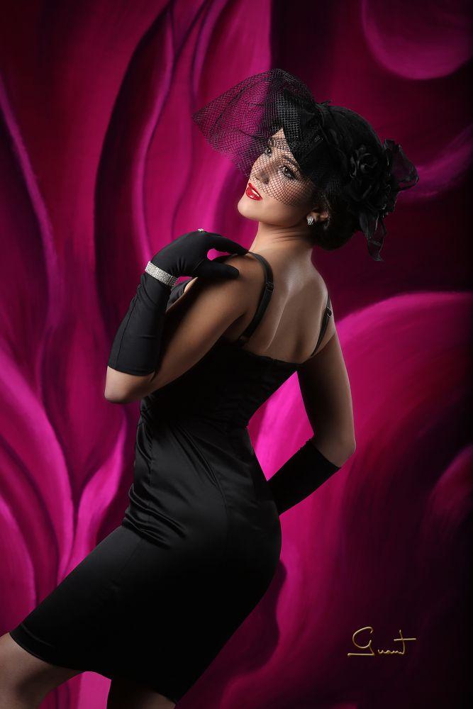 Photo in Portrait #elegance #black #flower #classic #girl #red #studiosession