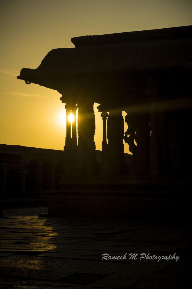 Photo in Landscape #temple #sunrise #nature #landscape #sunset #karnataka #ramesh m photography #mandapam #hampi #krishna temple #ramesh m #hampi kirshan temple mandapam #indian temple photography