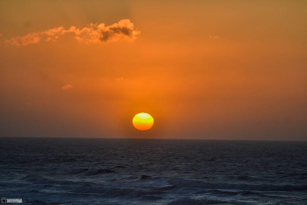 Photo in Landscape #sunset #sidiifni #morocco #sunlight #colorful #beach #ocean