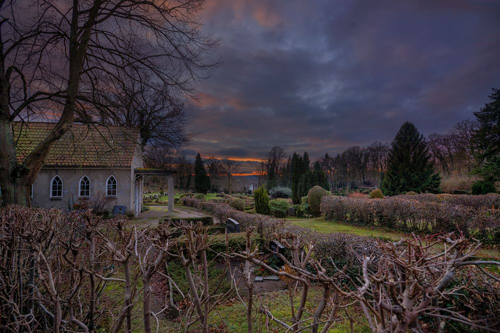 Photo in Landscape #graveyard #sunset #hitzacker #wendland #2017 #winter #nature #landscape