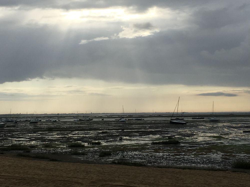 Photo in Random #cloud #sky #beach #boat