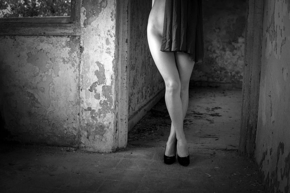 Photo in Nude #nude #portrait #female #indoor #black and white #model