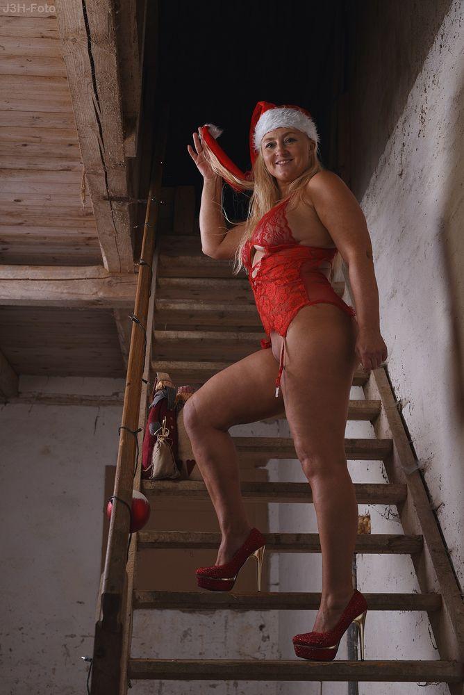 Photo in Nude #elf #santa #girl #model #woman #beauty #beautiful #lingeri #nude #naked #nudeshoot #photoshoot #legs #stiletto #stairs #vagina #pussy #posing #nue #nackt #seminude #ass #butt #bum