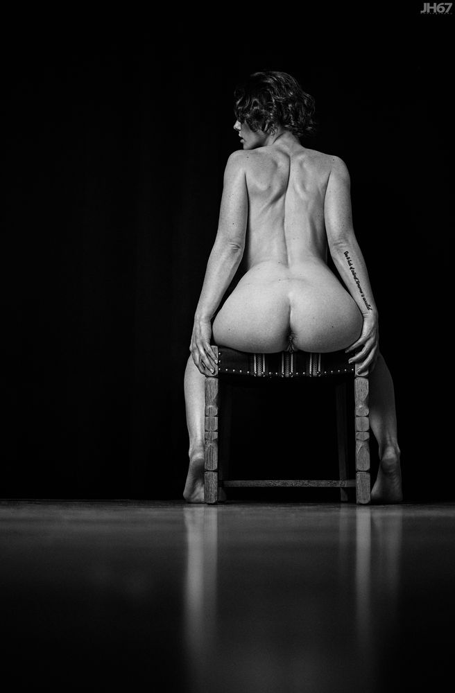 Photo in Nude #jh67photography #denmark #nude #nudeart #artnude #naked #akt #body #curves #booty #bottom #genitals #pussy #female #woman #girl #young #hair #dark #feet #chair #tattoo #butt #ass #fujifilm #model #building #apartment #homeshoot #bw #monochrome #blackwhite #sensual #sexual