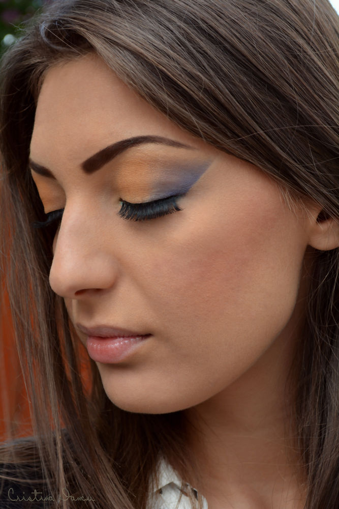 Photo in Random #babe #girl #make-up #blue #yellow #gold #people #person #portrait