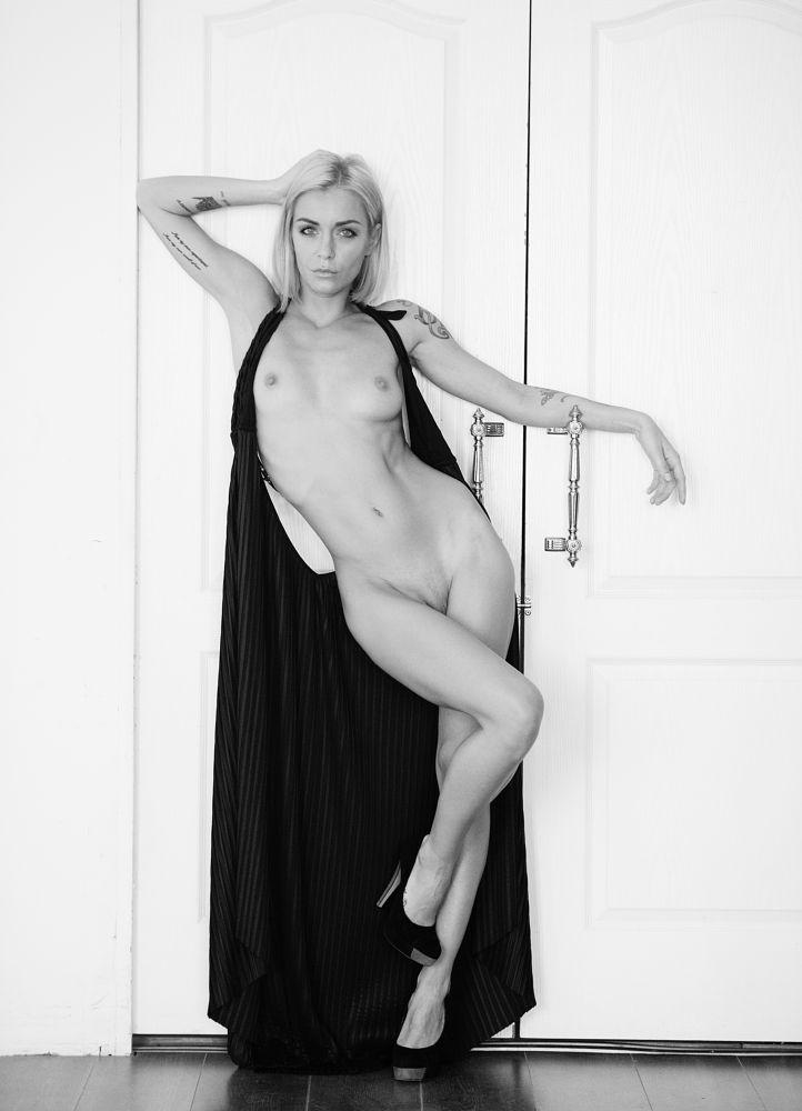 Photo in Nude #girl #nude #dress #door #naked