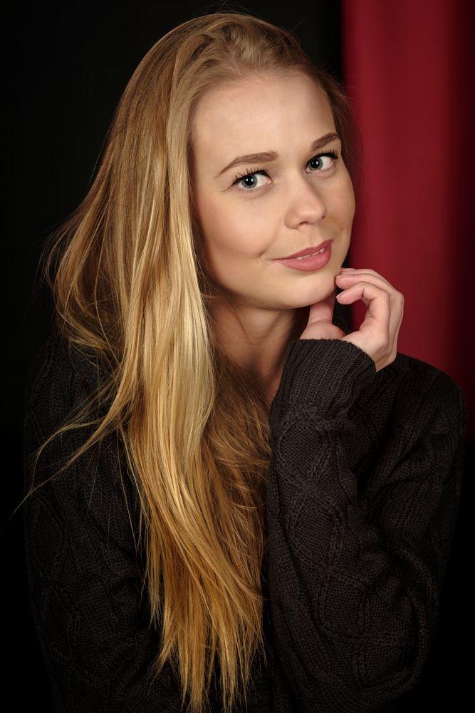 Photo in Portrait #girl #model #portrait #studio #blonde