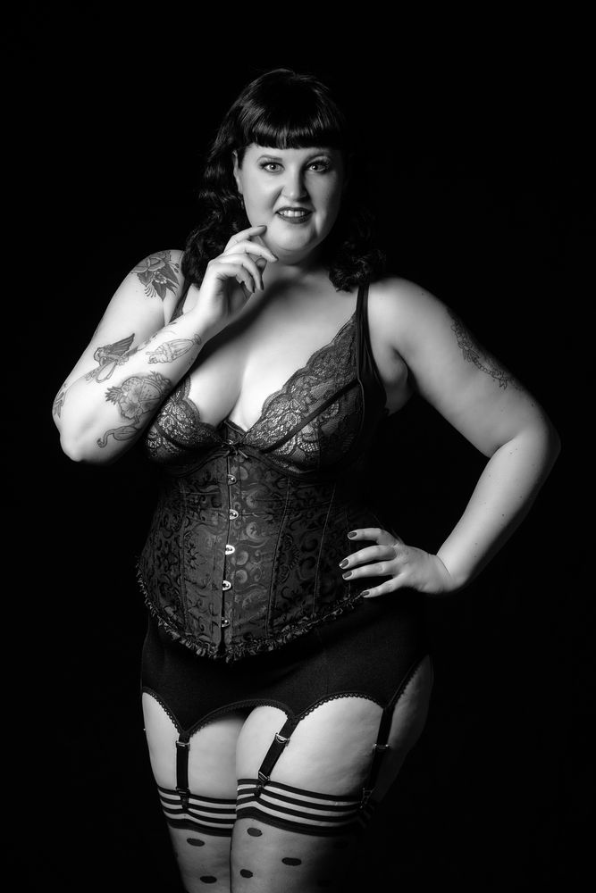 Photo in Fashion #tattoo #lingerie #curvy #plussizemodel