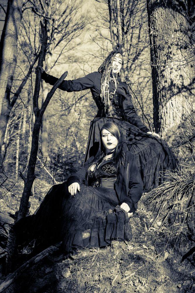 Photo in Portrait #gothic #portrait #people #dark #dark art #miro lange art #freiburg #forest #wood #black and white #sepia