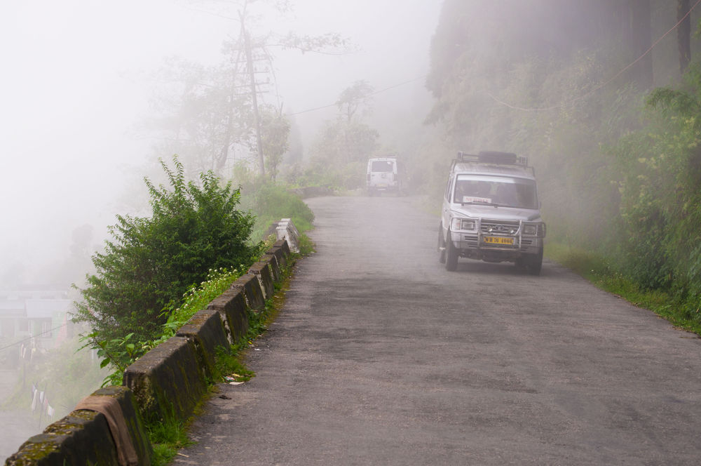 Photo in Landscape #hills #fog #landscapres #roads #mountain roads