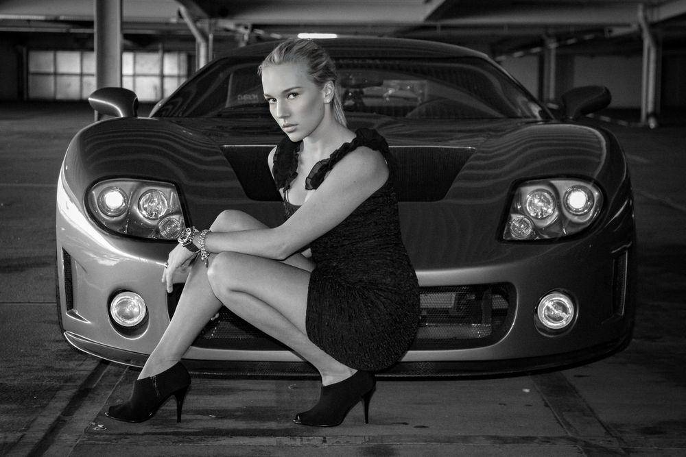 Photo in Portrait #car #model #beauty #female #blonde