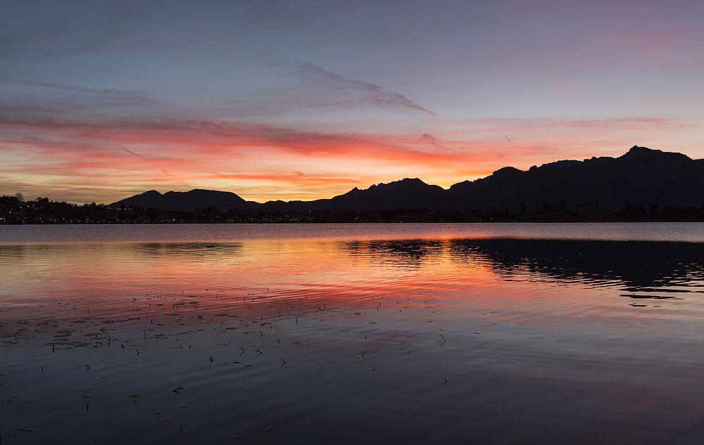 Photo in Landscape #hopfensee #allgäu #füssen #bayern #sunrise #red sky