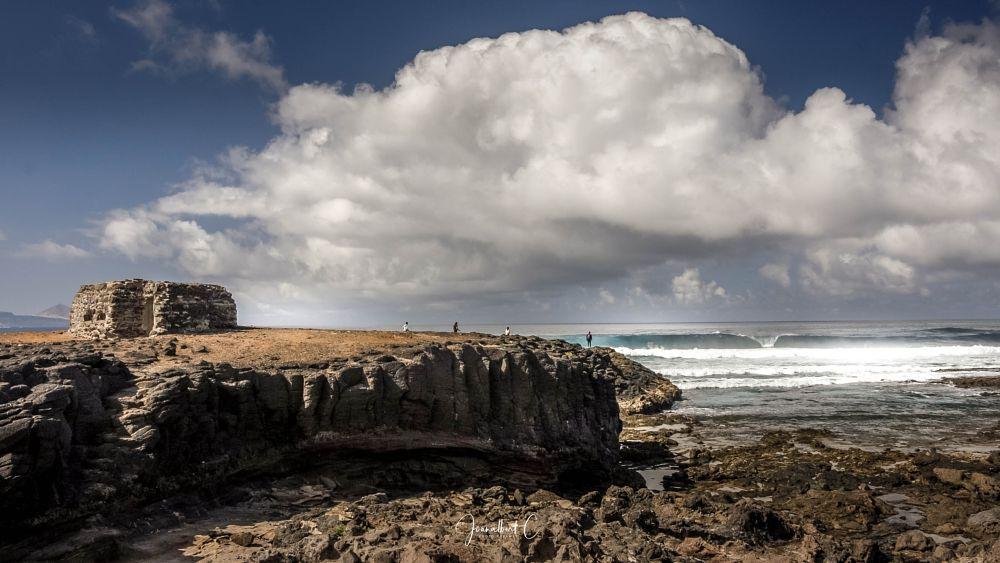 Photo in Landscape #ocean #clouds #rocks #water #sky #blue