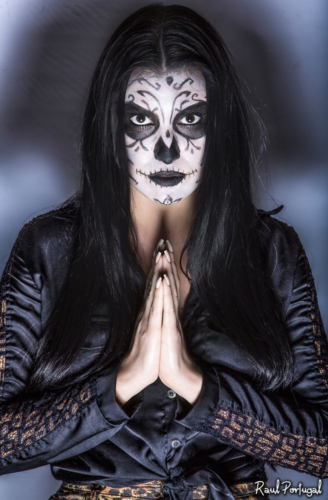 Photo in Fashion #catrina #mexican skull #model #studio