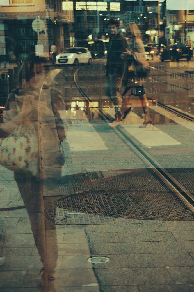 Photo in Random #doublexposure #challenge #street #streetphotography #brussels #belgium #people