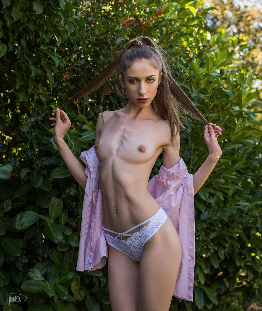 Photo in Nude #girl #nude #sexy #sensual #body #slim #fit #young #underwear #female #cute #summer