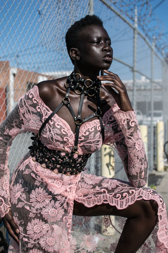 Photo in Random #pink #fashion #editorial #portrait #leather