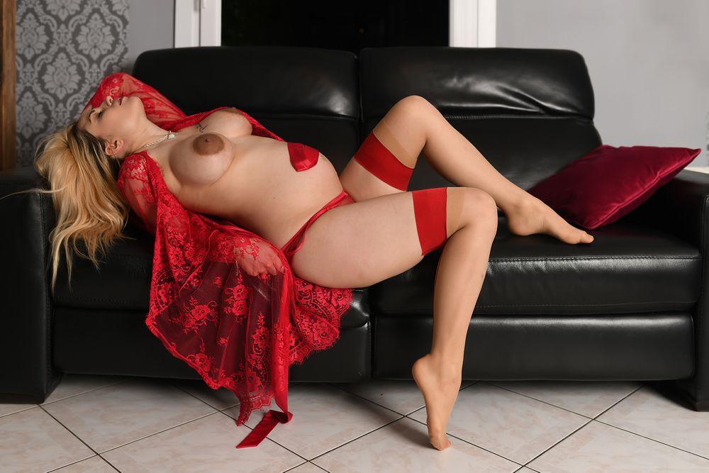 Photo in Nude #woman #girl #srocking #preignant #nipple #sofa