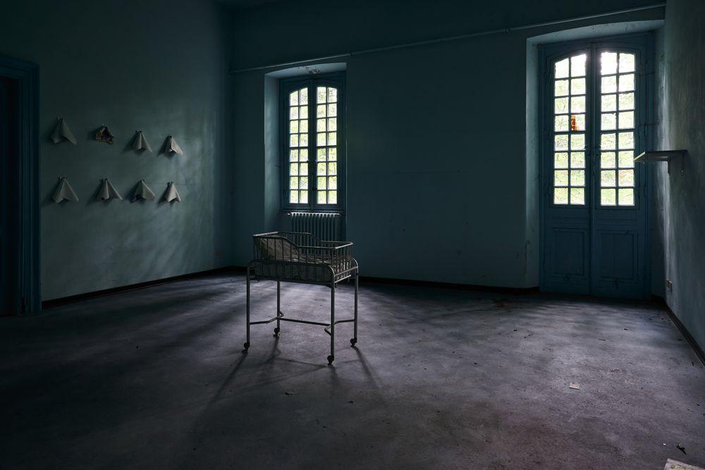 Photo in Random #baby cot #windows #lights #shadows #solitude #abandonment