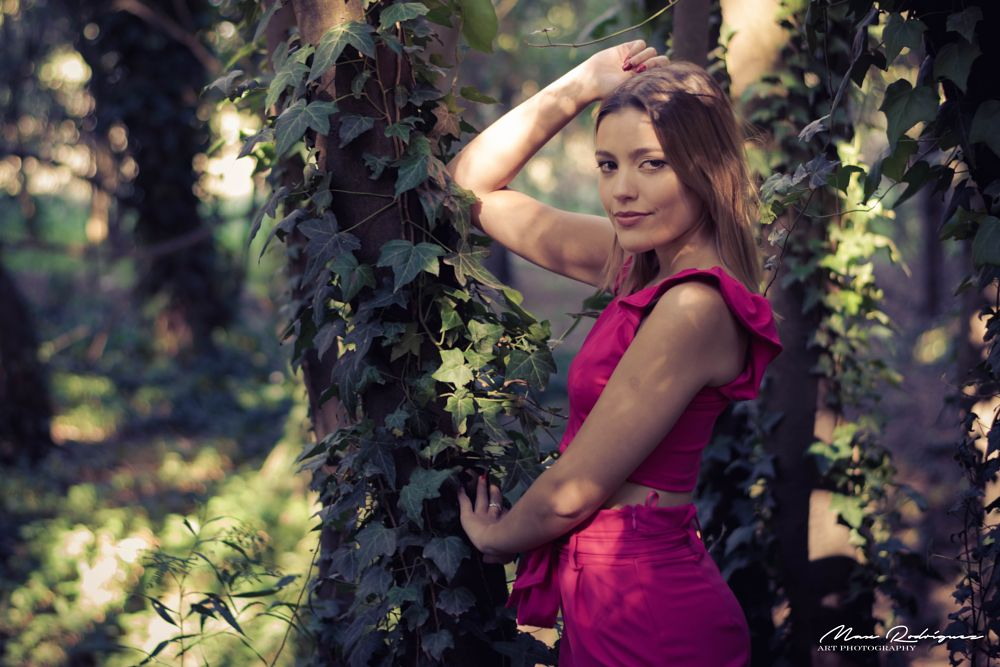 Photo in Portrait #nikon #50mm #portrait #series #fashion #model #girl #teengirl #woman #female #mood #beauty #sexy #beautiful #forest #rose #priscila #max rodriguez