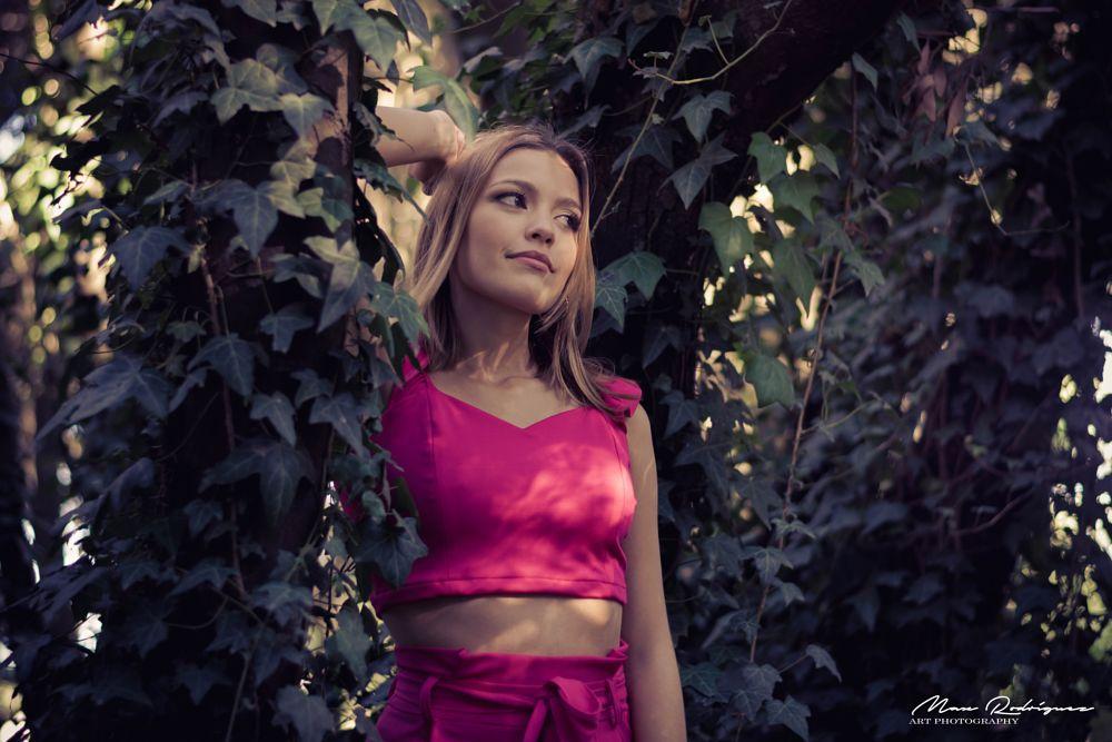 Photo in Portrait #nikon #50mm #fashion #series #portrait #model #sexy #girl #teengirl #female #lady #mood #forest #rose #woman #priscila #max rodriguez #beauty #beautiful