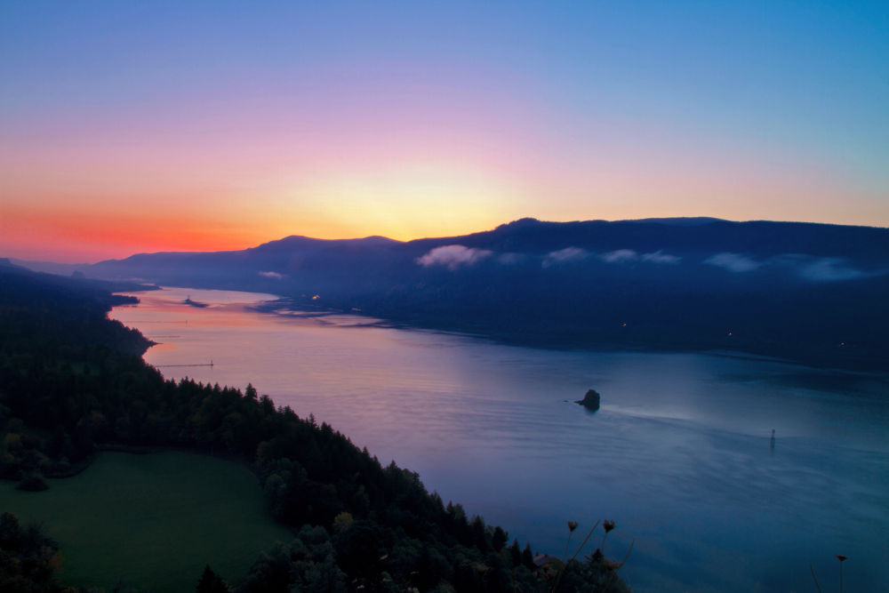 Photo in Landscape #columbia river #sunrise #washington state #landscape