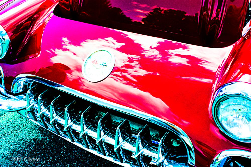 Photo in Vehicle #vehicle #classic #colors #contrast #car show #reflection