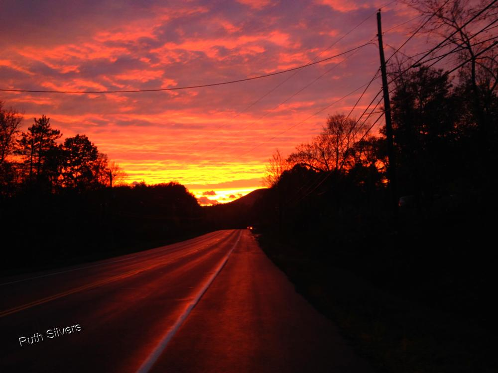 Photo in Rural #sunset #sun #country #road #beauty #nature