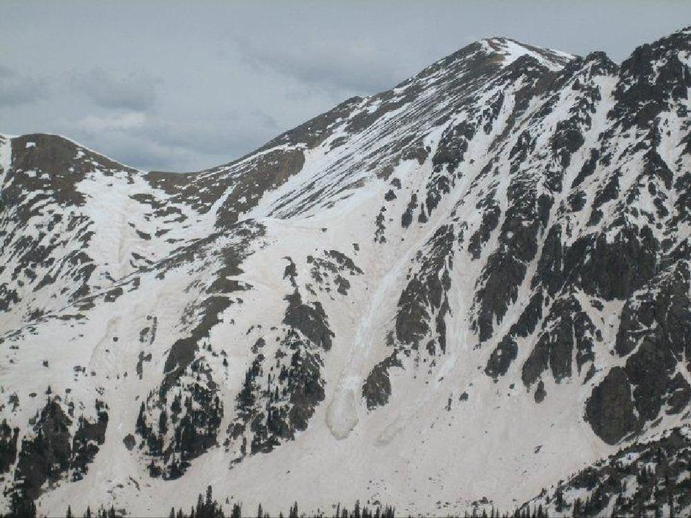 Photo in Landscape #slide #avalanche #mountain #skiing #steep #rockies #colorado #danger