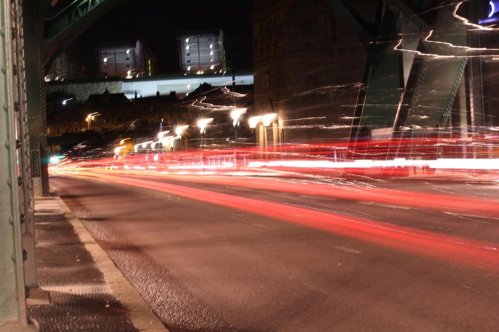 Photo in HDRI #light #trails #newcastle upon tyne #tyne bridge #hdri #cityscape