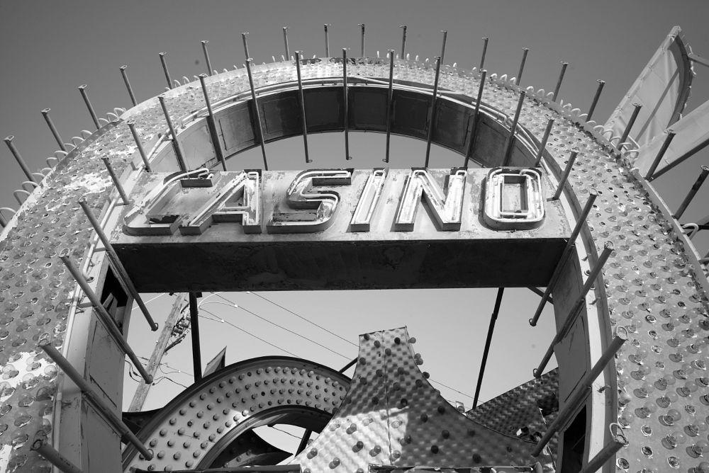 Photo in Random #lasvegas #nevada #blackandwhite #bw #casino #lights #monochrome #neon