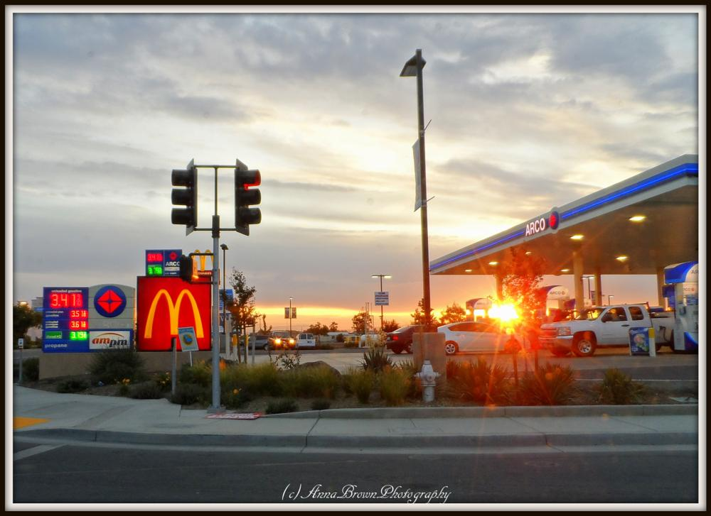 Photo in Random #gas station #sunset #my town