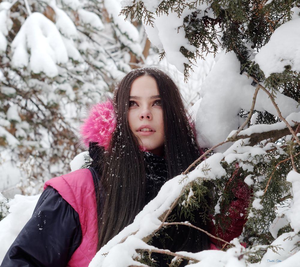 Photo in Portrait #portrait #beauty #snow #winter