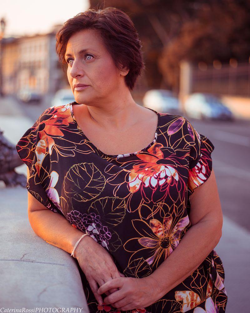 Photo in Portrait #woman #italy #sunrise