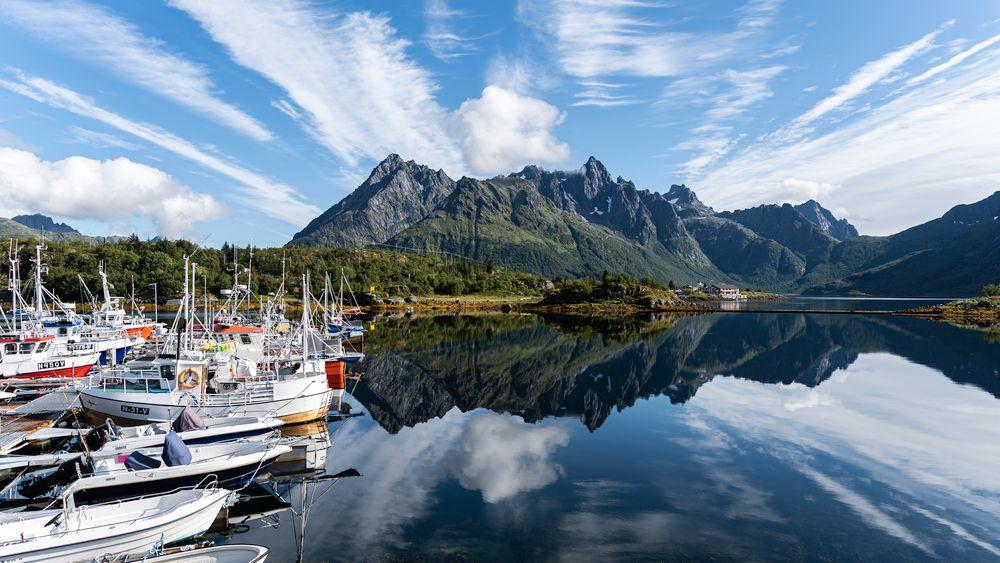 Photo in Random #sildpollnes #lofoten #mirror #mountains