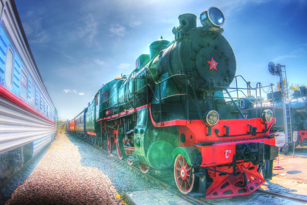 Photo in HDRI #steam engine #train #locomotive #old