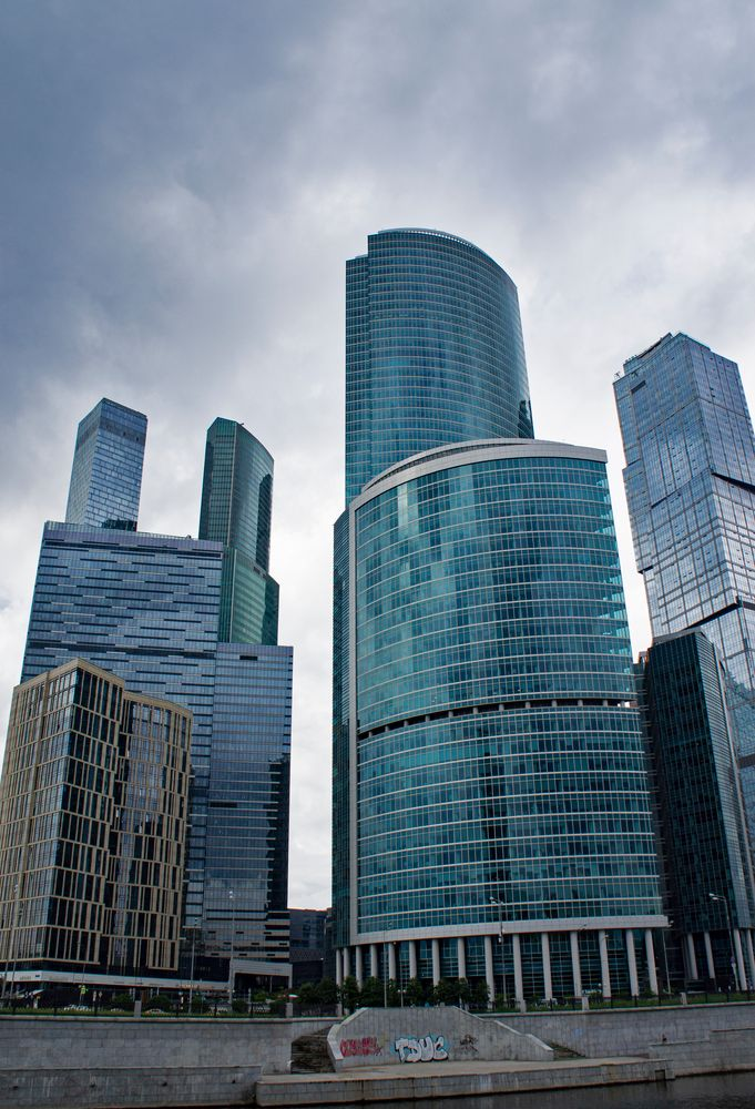 City. Cloudy