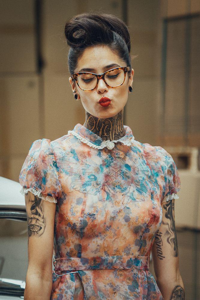Photo in Portrait #rockabilly #ink #inkgirl #tattoo