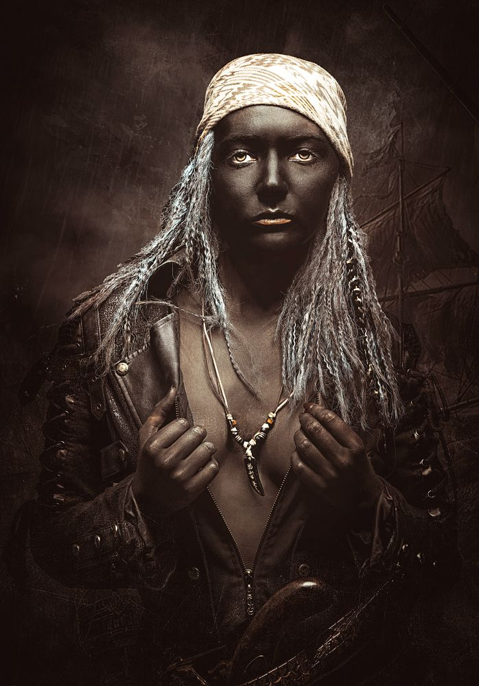 Photo in Portrait #pirate #dark art #surreal