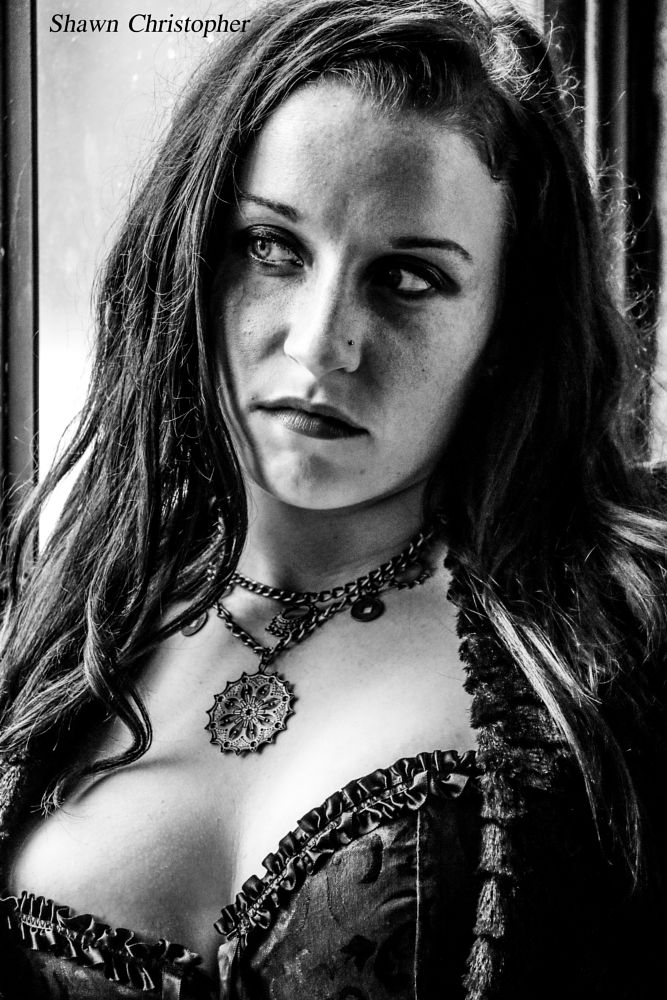 Photo in Portrait #model #cosplay #gothic #beautiful #black and white