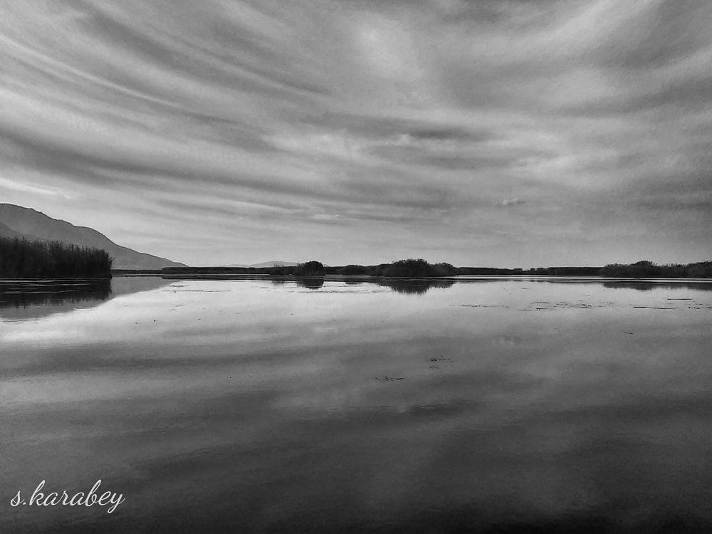 Photo in Black and White #antalya #black #white #reflection #turkey #travel #clouds #antalyarentacar