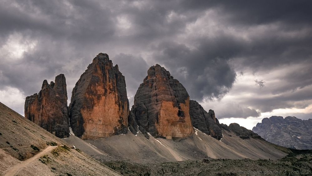 Photo in Landscape #tre cime #drei zinnen #belluno #south tyrol #dolomites #italy #cloudy
