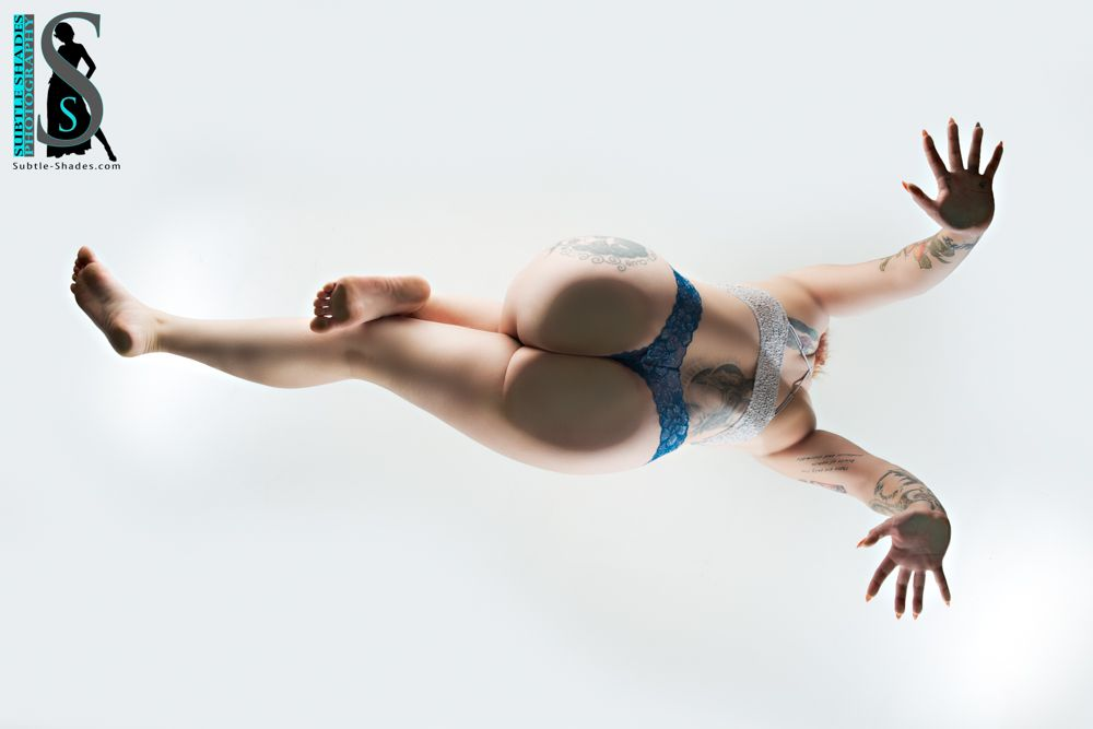 Photo in Portrait with model Brooklyn Lanoy #from below #lingerie #female model #beautiful woman